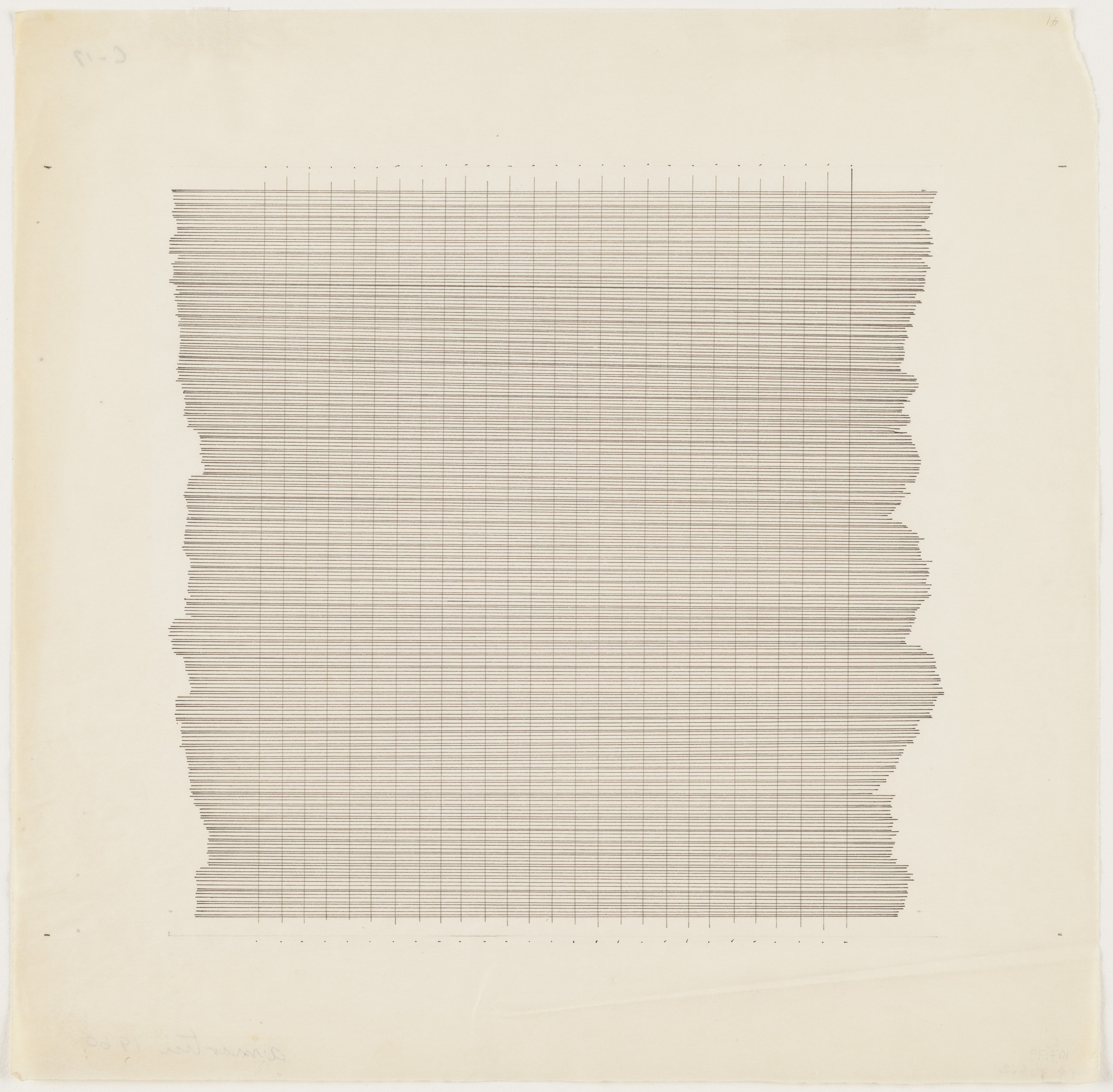 Agnes Martin. Untitled. 1960