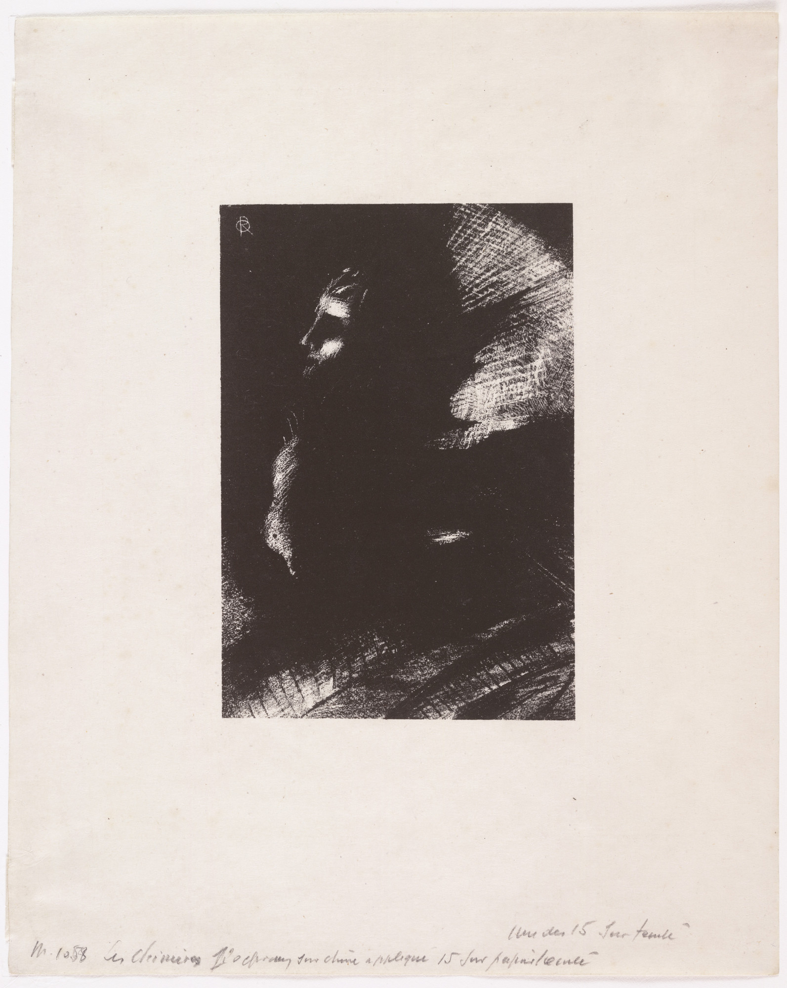 Odilon Redon. Frontispiece from The Chimeras (Les Chimères). 1889