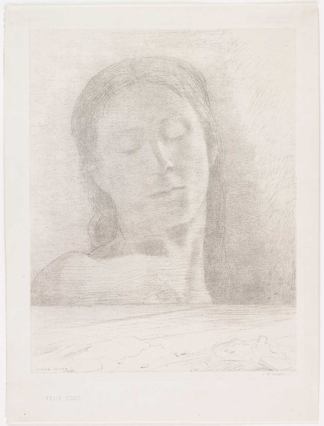 Odilon Redon. Closed Eyes (Yeux clos). 1890
