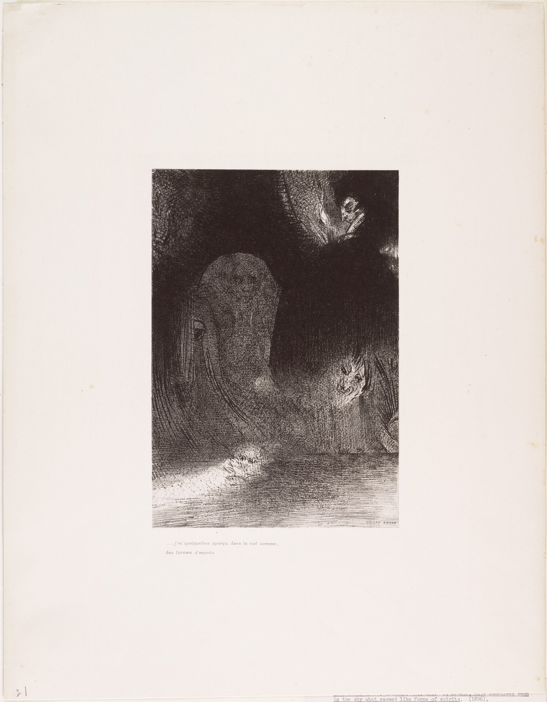 Odilon Redon. The Temptation of Saint Anthony (La Tentation de Saint-Antoine) (third series). 1896