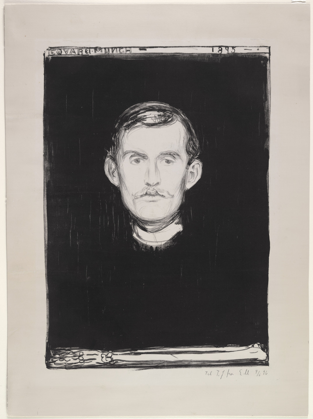 Edvard Munch. Self Portrait. 1895, signed 1896