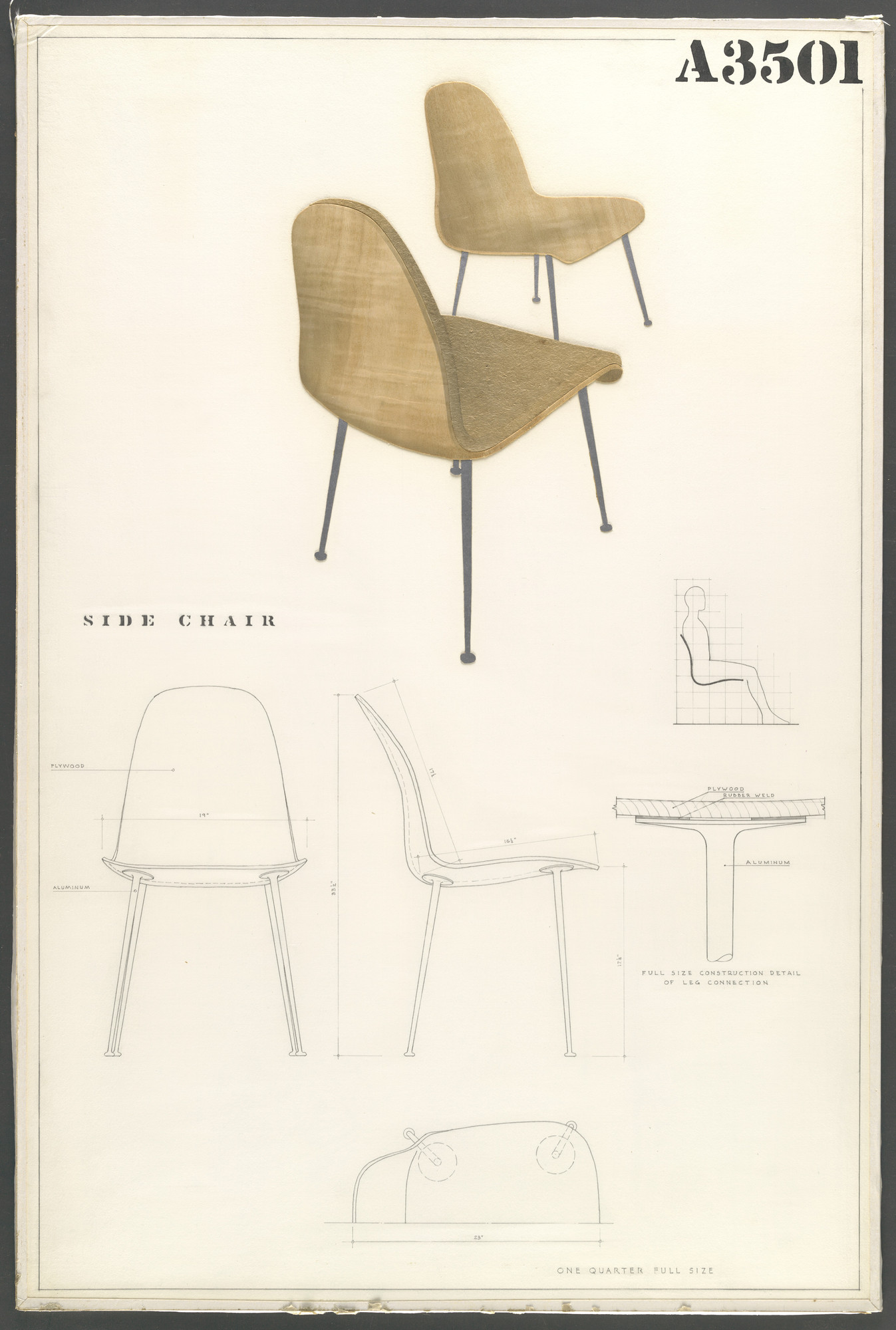 Charles Eames, Eero Saarinen. Side Chair (Entry Panel for MoMA ...