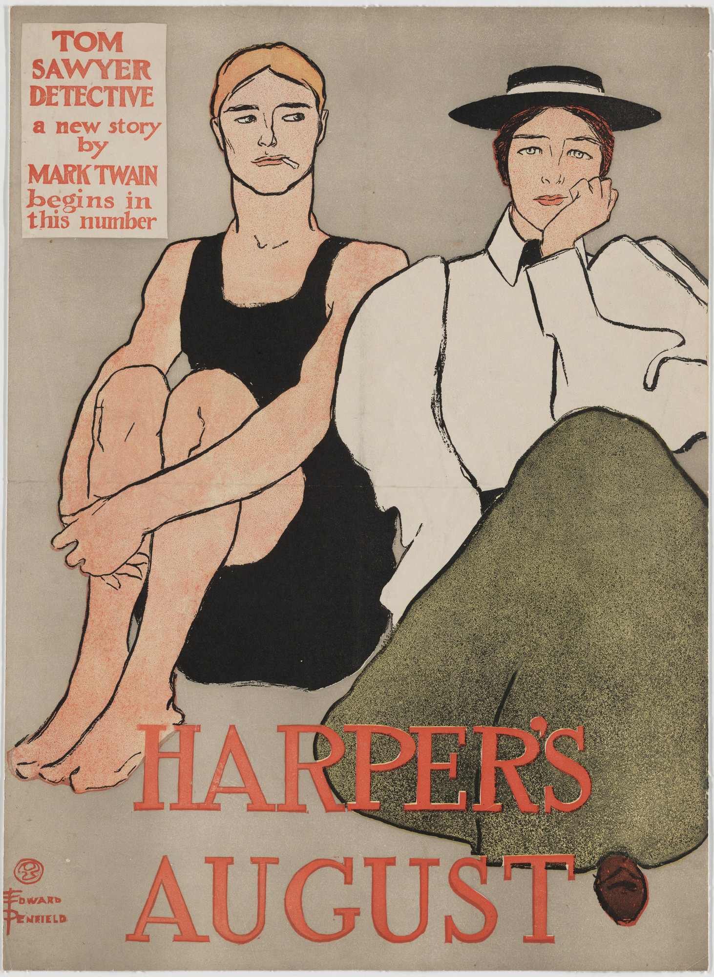 Edward Penfield. Harper's August. 1896