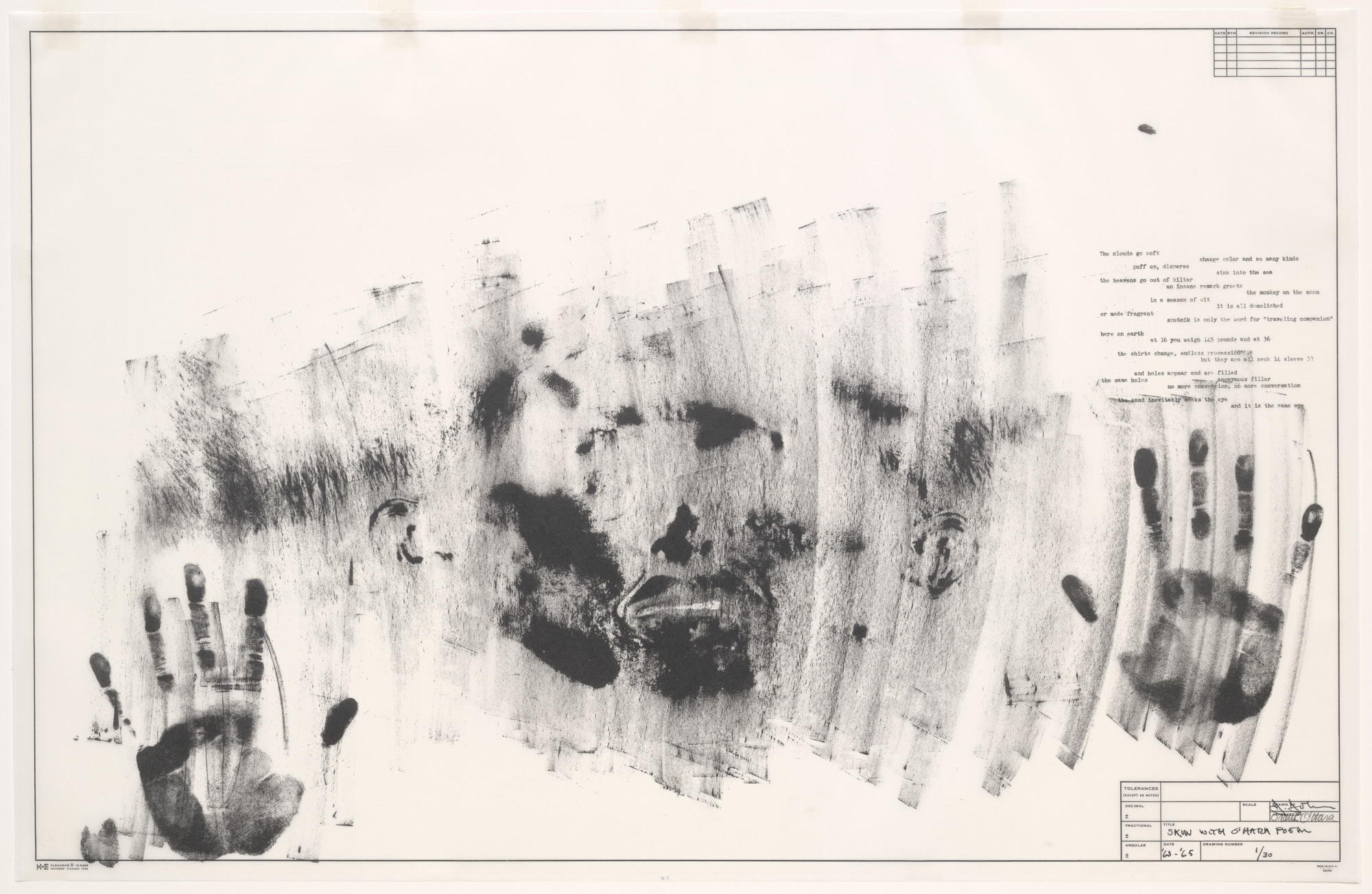 Jasper Johns. Skin with O'Hara Poem. 1963–65