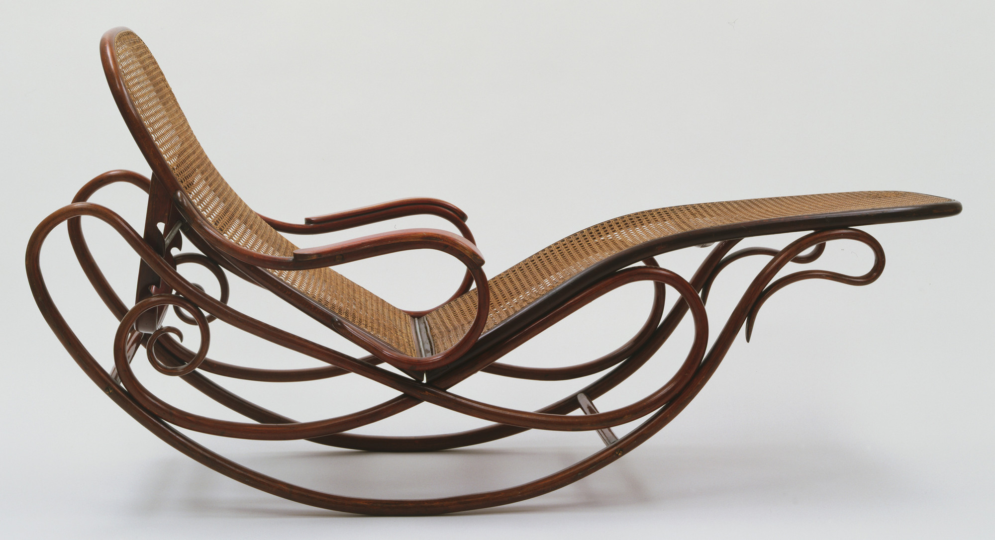 Gebrüder Thonet, company design. Rocking Chaise with Adjustable Back (model 7500). c. 1880