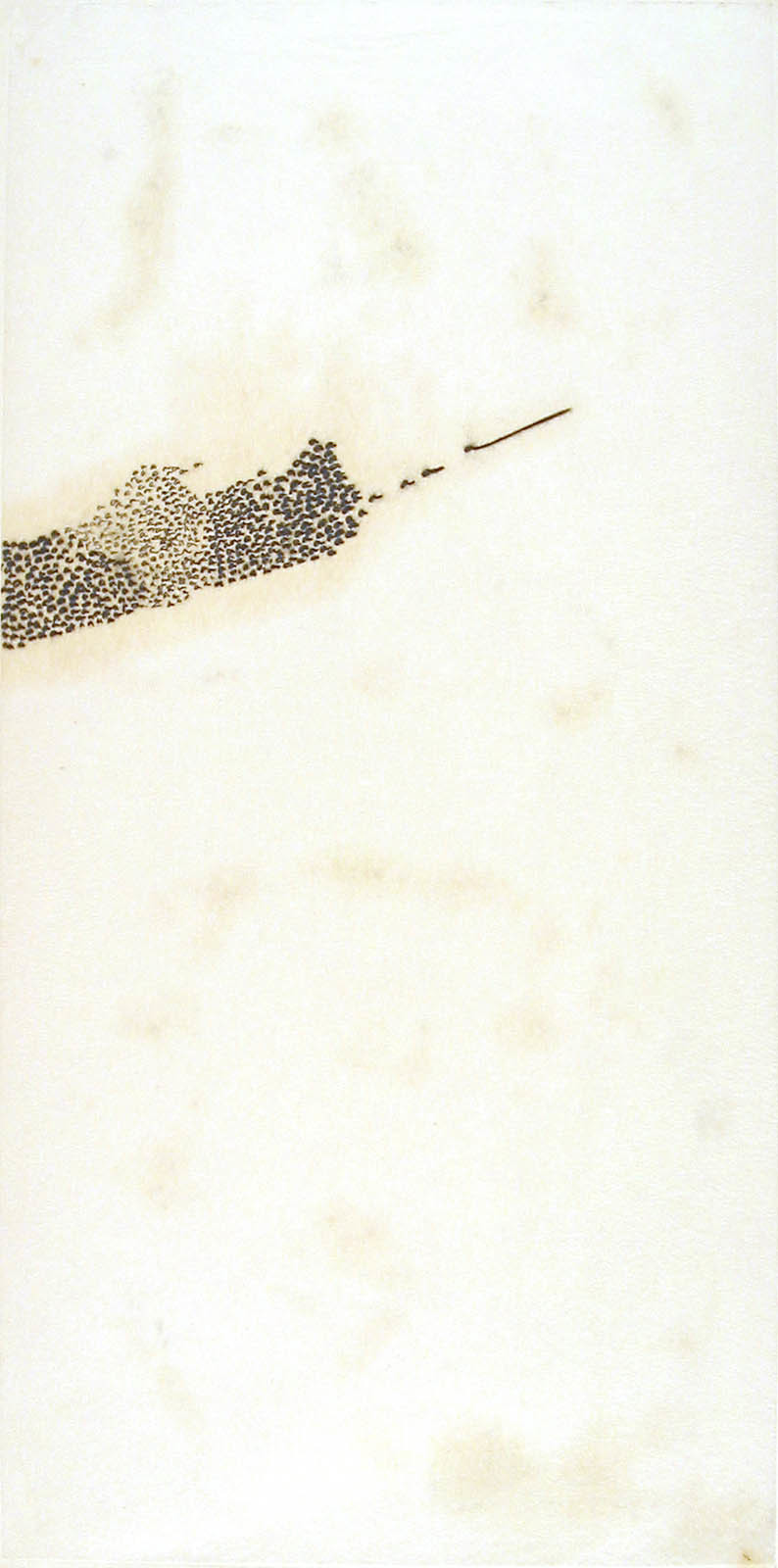 Mira Schendel. Untitled from the series Letters and Lines (Letras e Linhas). 1966