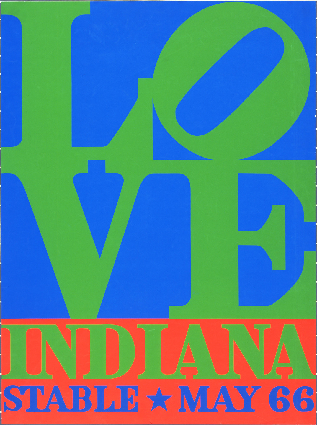 Robert Indiana. Love, Indiana Stable May 66. 1966