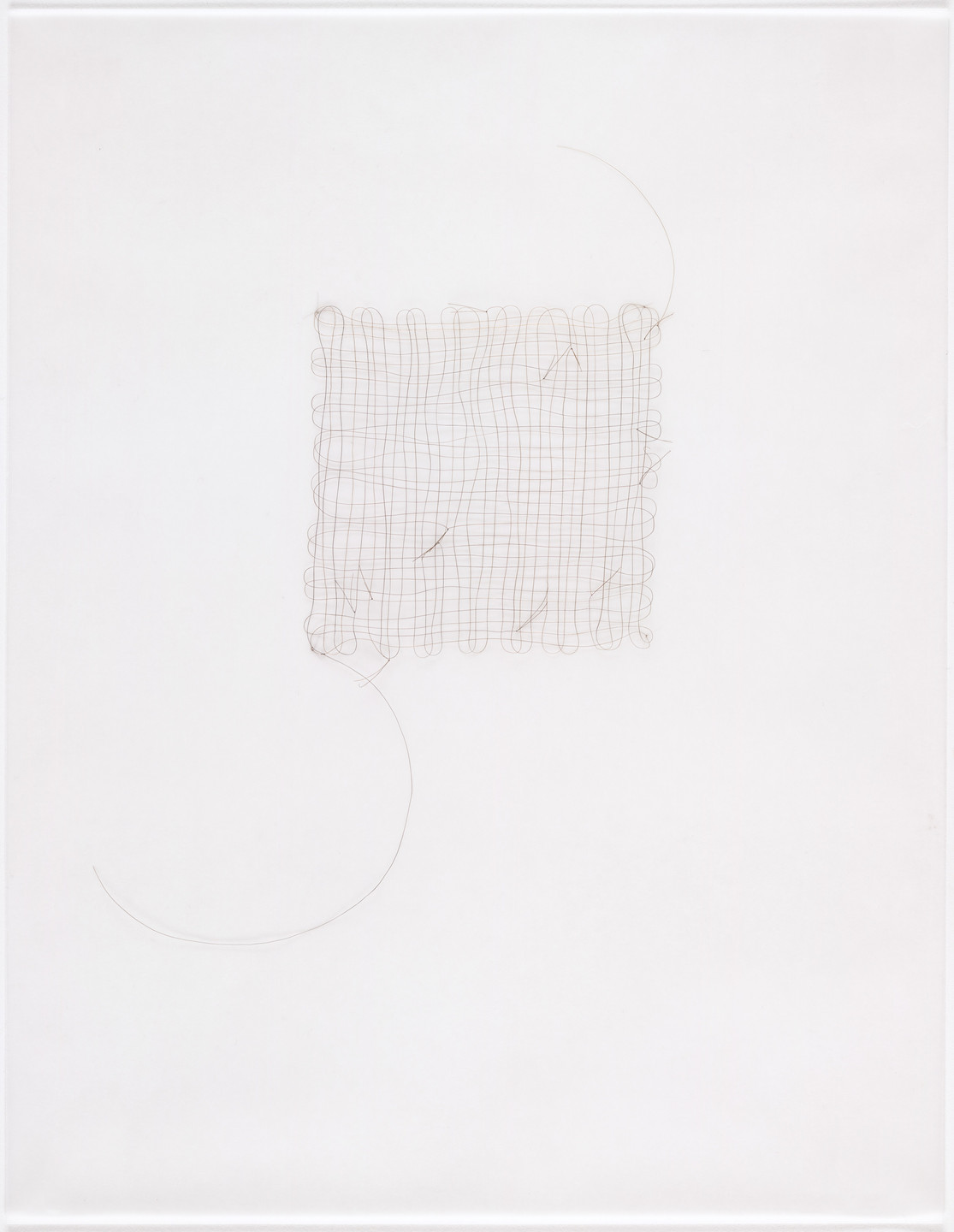 Mona Hatoum. Untitled (hair grid with knots 3). (2001)