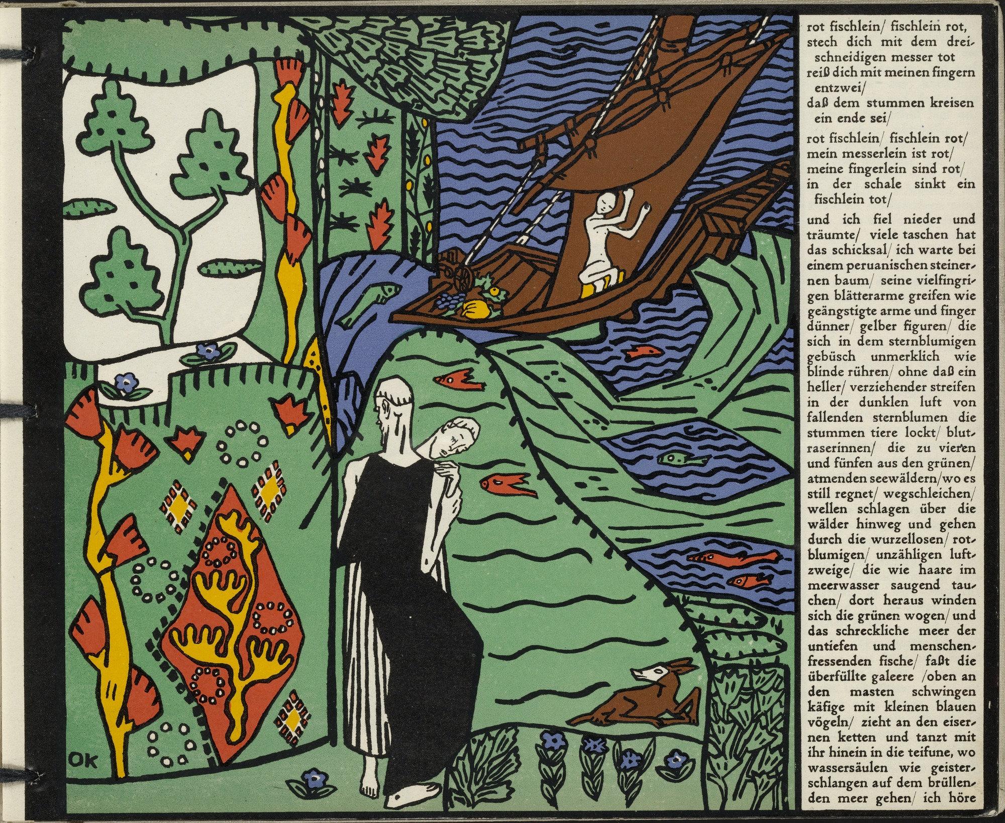 Moma The Collection Oskar Kokoschka The Sailboat Das