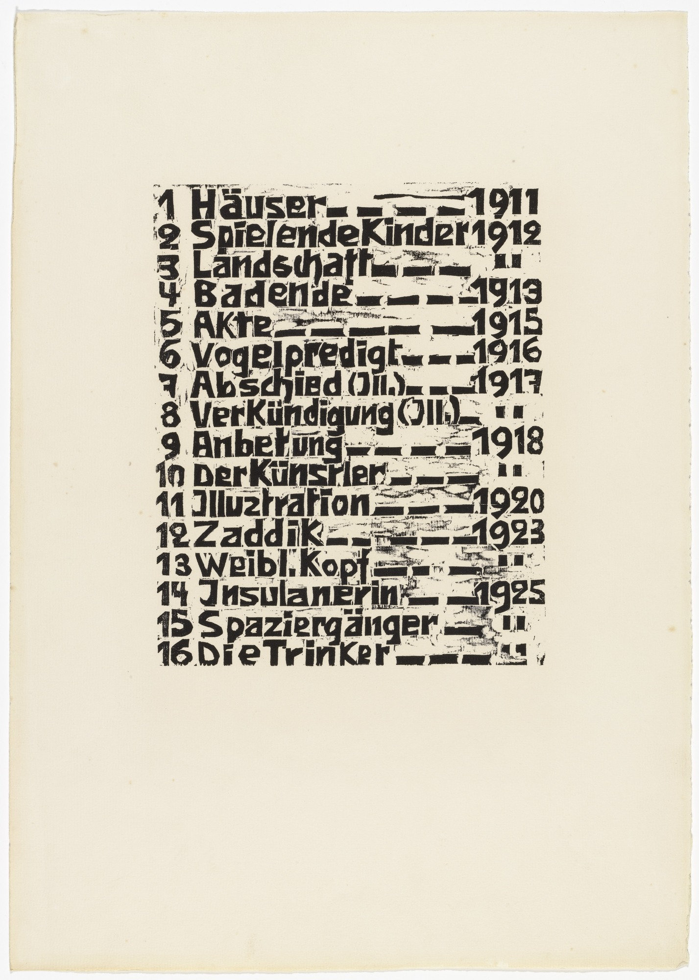 MoMA | The Collection | Walter Helbig  Table of Contents