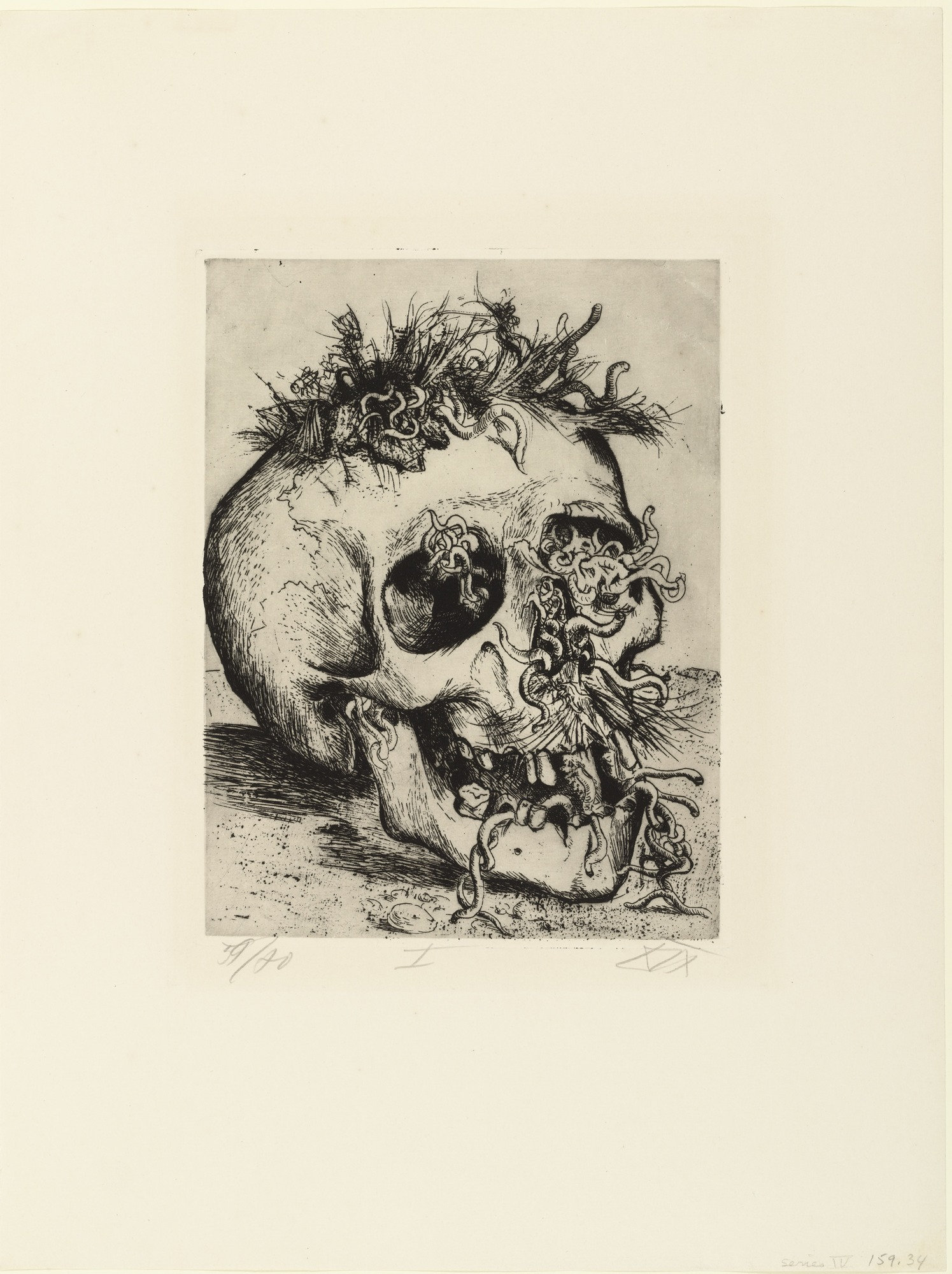 Exceptionnel MoMA | The Collection | Otto Dix. Skull (Schädel) from The War  AT88