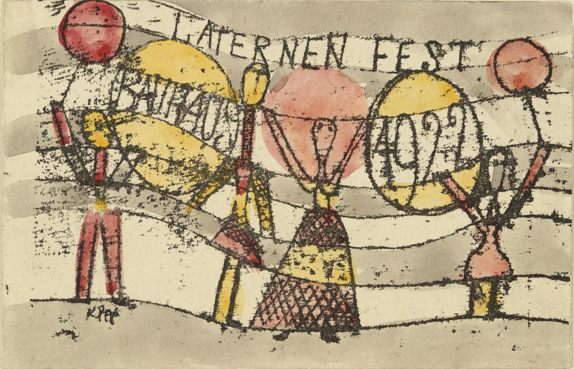 Was Ist Ein Bauhaus moma the collection paul klee postcard for bauhaus lantern
