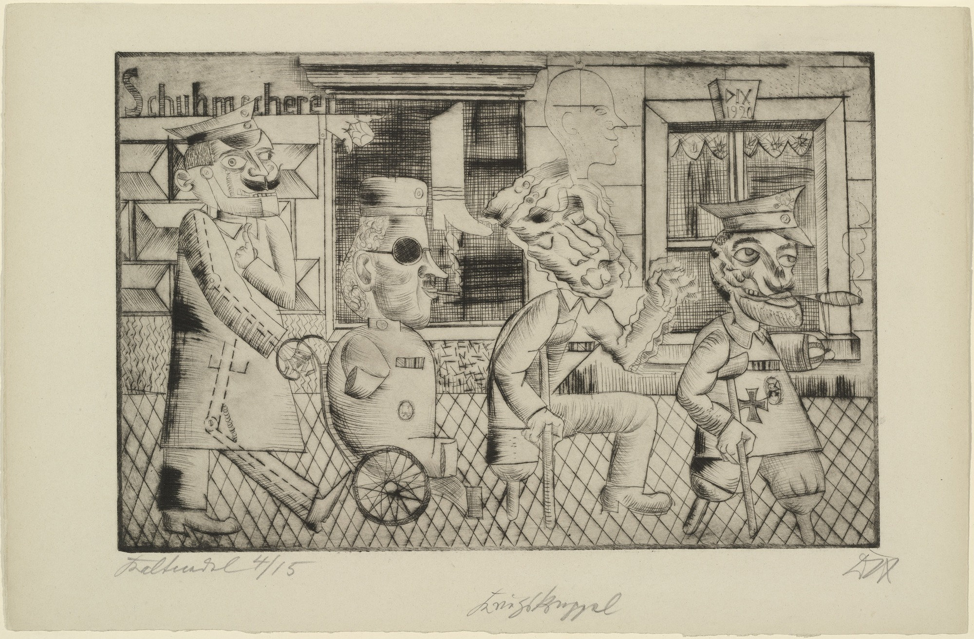 Exceptionnel MoMA | The Collection | Otto Dix. War Cripples (Kriegskrüppel). (1920) AT88