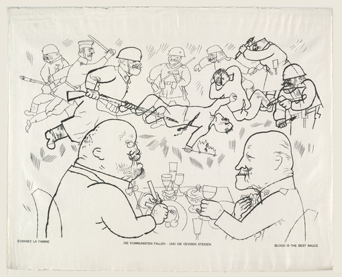 Blood is the Best Sauce from the portfolio God with Us by George Grosz (1919)