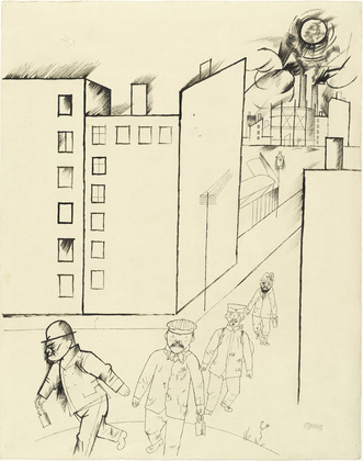 George Grosz. The End of the Day. (c. 1919)