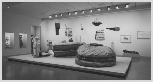 Installation view of the exhibition Claes Oldenburg at MoMA (September 23–November 23, 1969). Photo: James Mathews; courtesy of MoMA