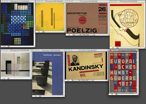 Works of art that provided inspiration for the site design. From the upper left: …