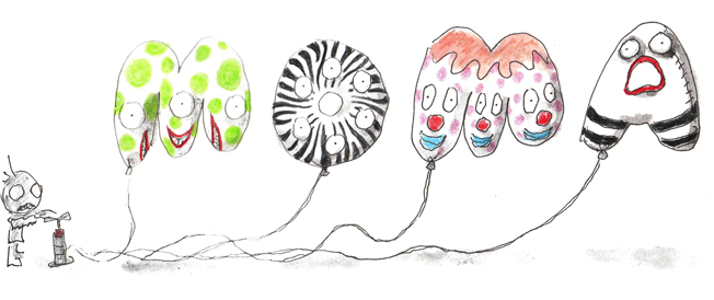 Tim Burton original balloon designs