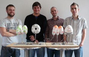 The Flix CGI team Simon Partington - Neil Sanderson - John Whittington and Mike Whipp