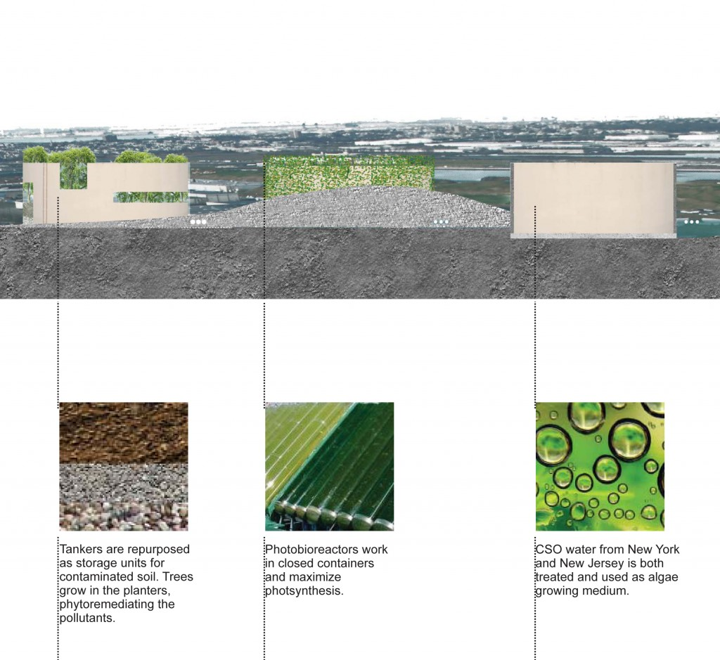 Matthew Baird Architects, Techniques applied to the repurposed oil tanks