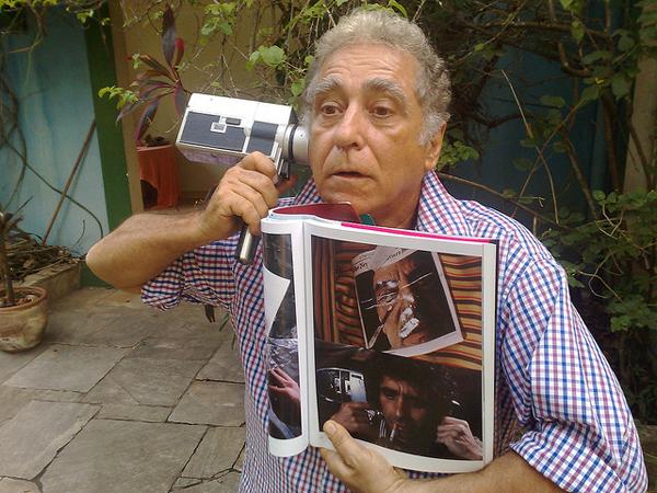 Mangue Bangue director Neville D'Ameida photographed during a comic moment, Rio de Janeiro, Brazil, 2008