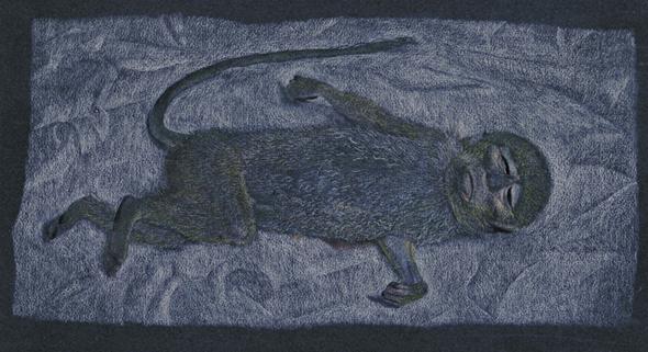 Lucian Freud. Dead Monkey