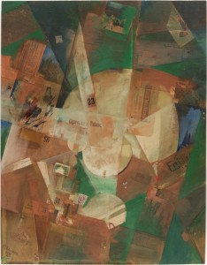 Picture with Light Center by Kurt Schwitters, 1919