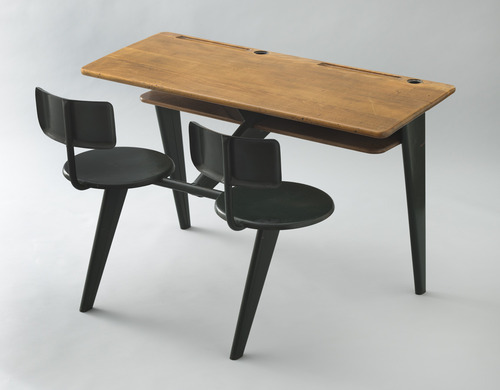 School Desk 1946 Moma S Cur Exhibition Century Of The Child Growing By Design 1900 2000 Chronicles A Triumphs In Quest