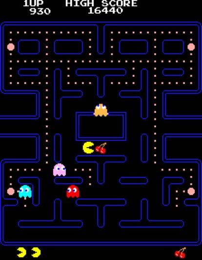 Pac-Man. 1980. Tōru Iwatani of NAMCO LIMITED, now NAMCO BANDAI Games Inc.
