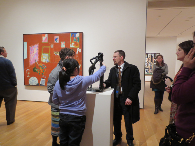 A touch tour in the Painting and Sculpture Galleries