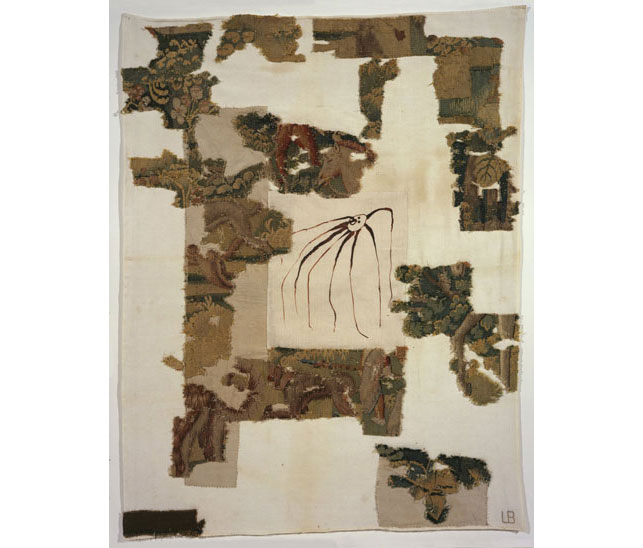 "Louise Bourgeois. Untitled. 2008. Fabric work, with tapestry fragments and digital print, sheet: 39 3/4 x 30 1/2"" (101 x 77.5 cm). © 2013 Louise Bourgeois Trust"