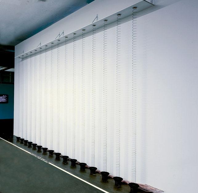 David Moreno, Quietly Oscillating x 16, 2012 installation view