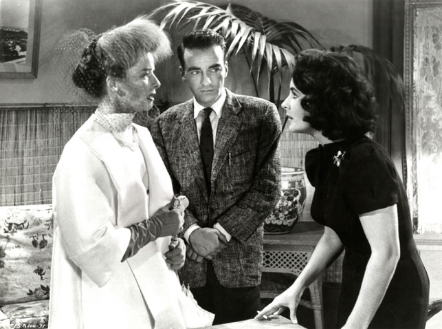 Katharine Hepburn, Montgomery Clift, and Elizabeth Taylor in Suddenly, Last Summer. 1959. USA. Directed by Joseph L. Mankiewicz