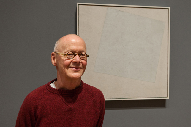 Wolfgang Laib with Kazimir Malevich's Suprematist Composition: White on White