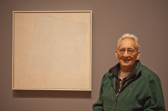 Frank Stella with Kazimir Malevich's Suprematist Composition: White on White