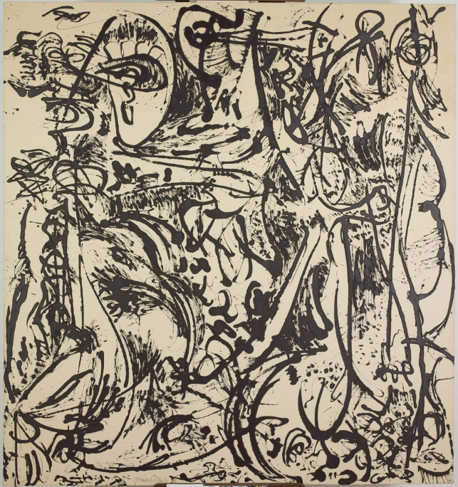 Jackson Pollock. Echo: Number 25, 1951. Enamel paint on canvas. Acquired through the Lillie P. Bliss Bequest and the Mr. and Mrs. David Rockefeller Fund. © 2013 Pollock-Krasner Foundation / Artists Rights Society (ARS), New York