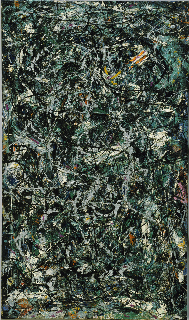 Jackson Pollock. Full Fathom Five. 1947. Oil on canvas with nails, tacks, buttons, key, coins, cigarettes, matches, etc. Gift of Peggy Guggenheim. © 2013 Pollock-Krasner Foundation / Artists Rights Society (ARS), New York