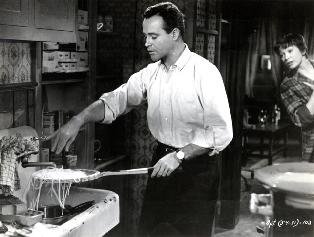 Jack Lemmon and Shirley MacLaine in The Apartment. 1960. USA. Directed by Billy Wilder