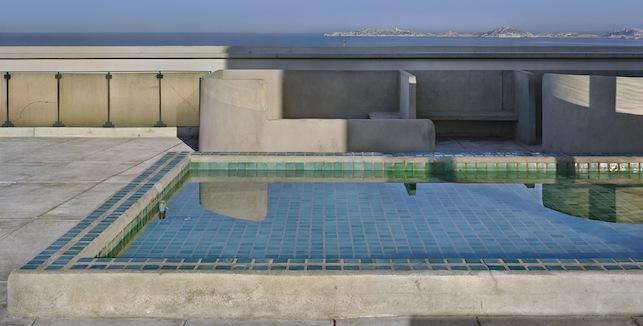 Le Corbusier (Charles-Édouard Jeanneret). Unité d'habitation, Marseille. 1945–52. Roof terrace. Photograph. 2012. © 2013 Artists Rights Society (ARS), New York/ADAGP, Paris/FLC. Photo © Richard Pare