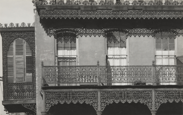 "Walker Evans. House in New Orleans. 1935. Gelatin silver print. 3 5/16 x 5 5/16"" (8.5 x 13.5 cm). Anonymous Fund"