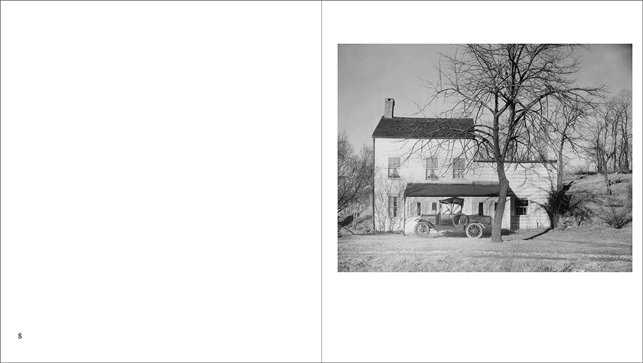 Spread from Walker Evans: American Photographs showing Westchester, New York, Farmhouse