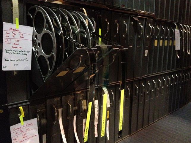 Medea 35mm reels prepared in Titus 1 projection booth