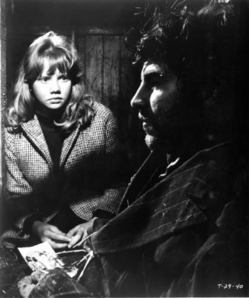Hayley Mills and Alan Bates in Whistle Down the Wind. 1961. Great Britain. Directed by Bryan Forbes