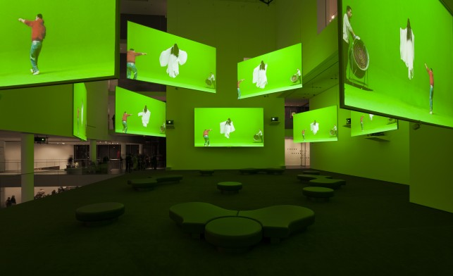 Installation view of Isaac Julien: Ten Thousand Waves at The Museum of Modern Art. Photo: Jonathan Muzikar