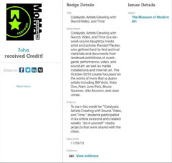 Credly MoMA Online Courses Badge