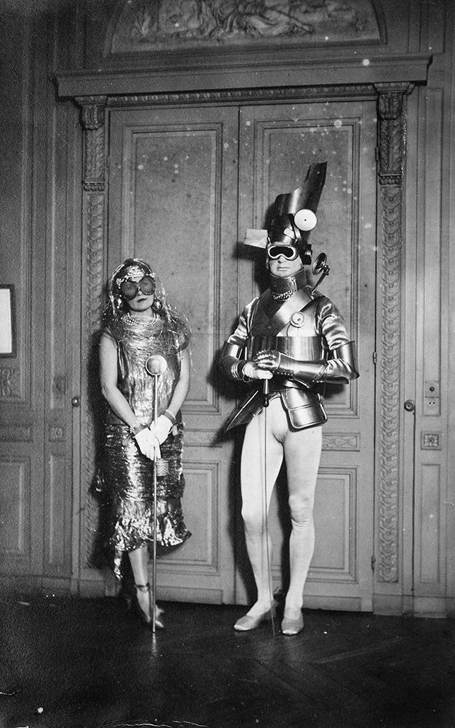 Sara and Gerald Murphy at a costume ball in Montparnasse, c. 1922. © 2013 Man Ray Trust/Artists Rights Society (ARS), New York/ADAGP, Paris