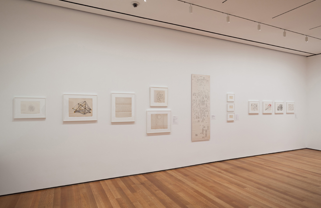 "Installation view of There Will Never Be Silence: Scoring John Cage's 4'33"", The Museum of Modern Art, New York, October 12, 2013–June 22, 2014"