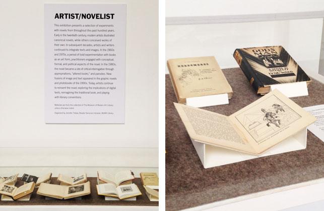 Installation view of <i>Artist/Novelist</i>, The Museum of Modern Art, January 8–March 31, 2014. Photo: Jennifer Tobias