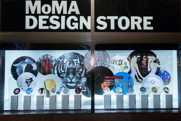 The MoMA Design Store windows at West 53rd Street, featuring TK. Photo: Scott Rudd
