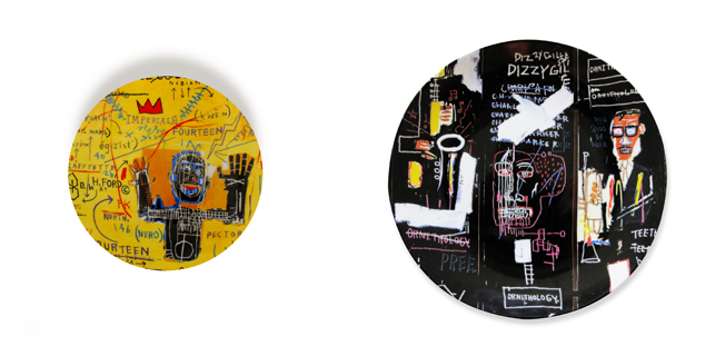 Jean-Michel Basquiat. All Colored Cast 1 (right); Horn Players (left)
